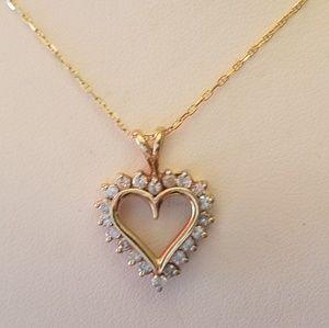 Jewelry - 18k chain with 1/2ct diamond's 10k pendant